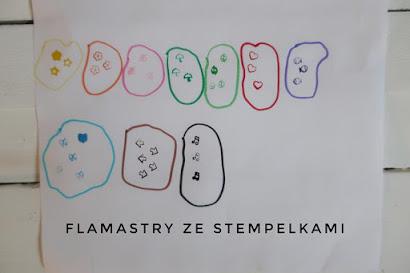 Flamastry ze stempelkami St. Majewski z Biedronki