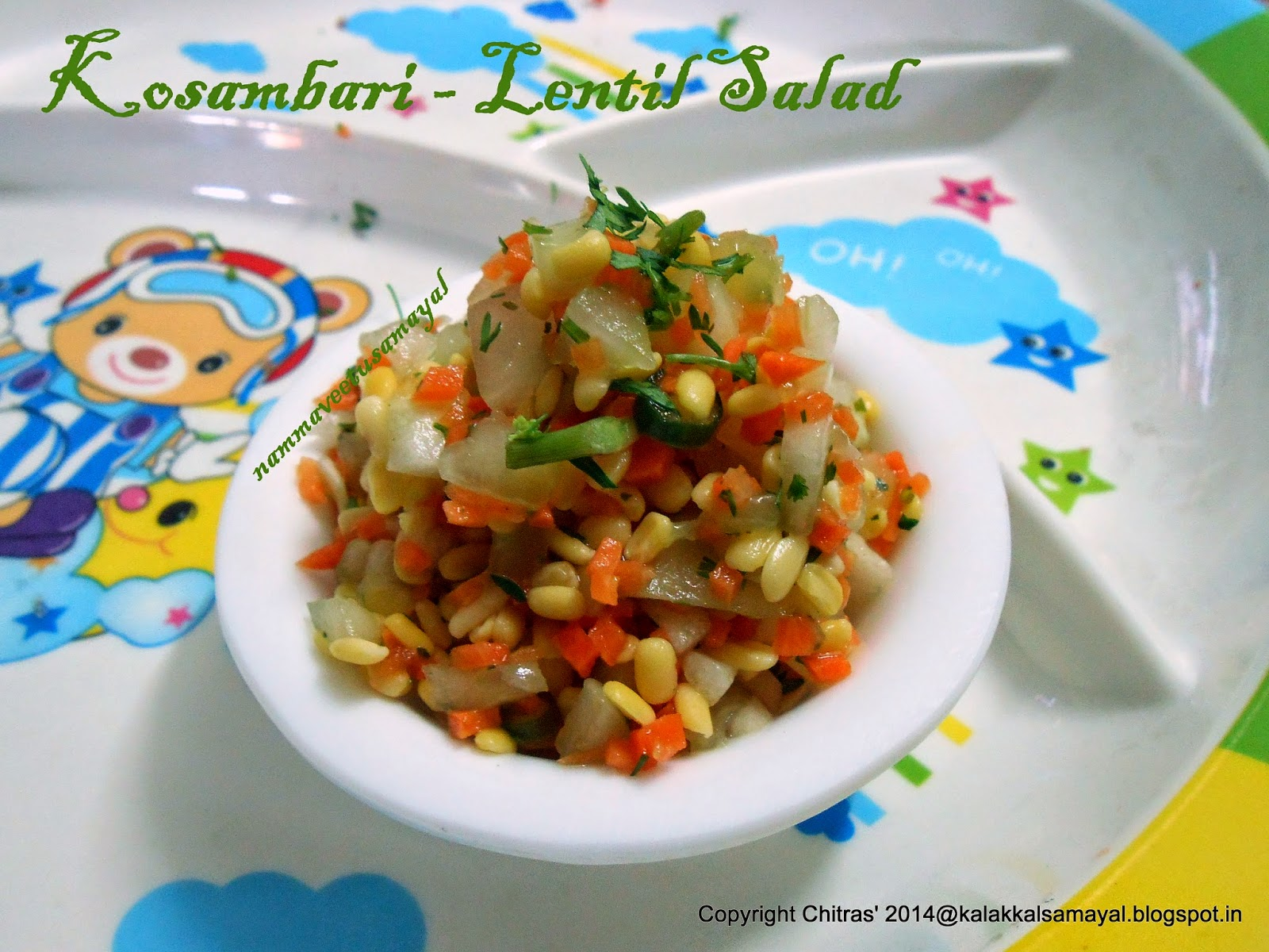 Kosambari [ Lentil Salad ]