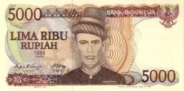 5 ribu rupiah 1985 depan