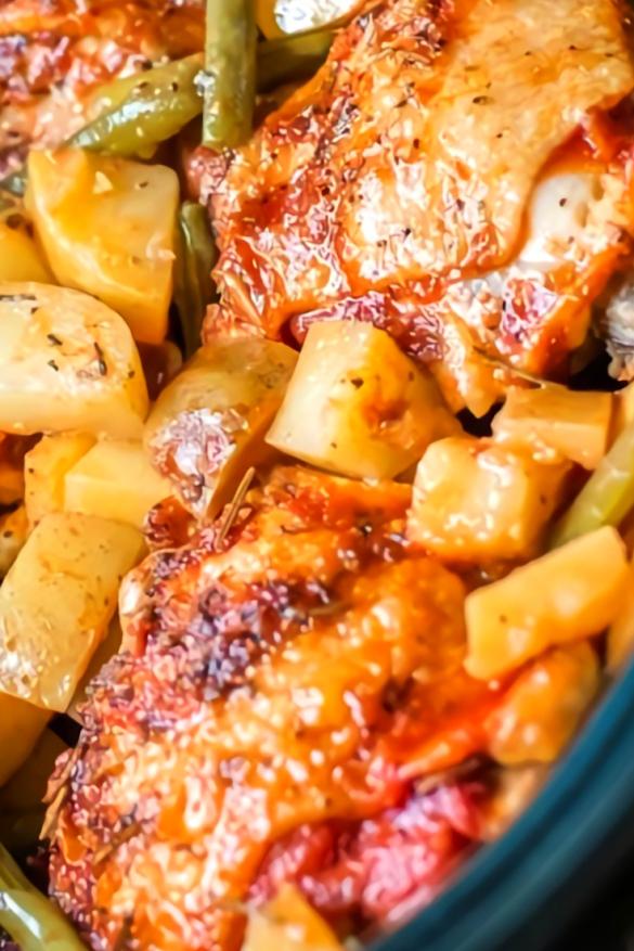 Slow Cooker Full Chicken Dinner Recipe