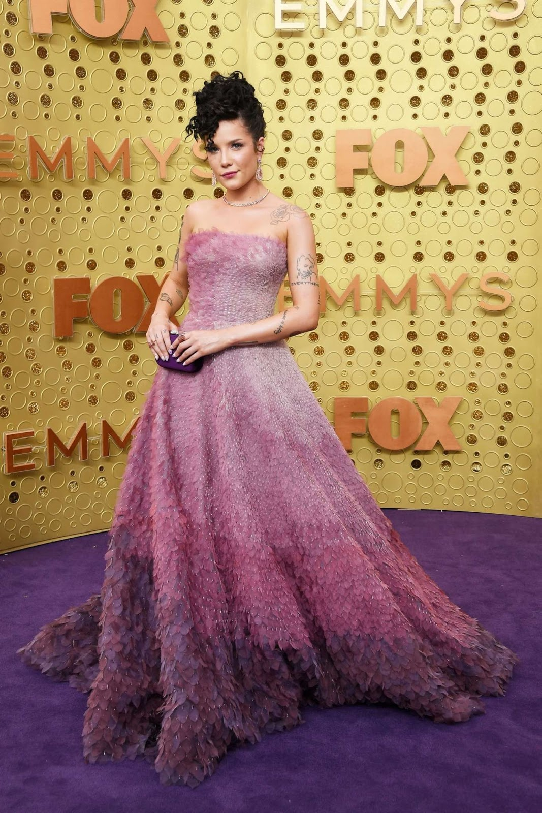 Halsey is an ombre dream at the 2019 Emmy Awards in Los Angeles