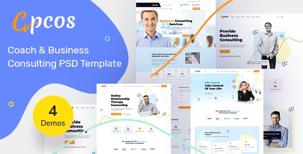 Best Coach & Business Consulting PSD Template