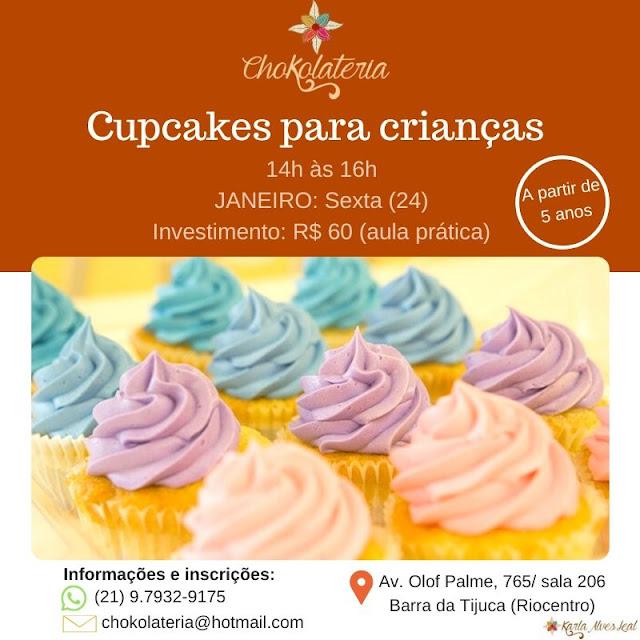 Aulas de Confeitaria para Crianças - Janeiro 2020