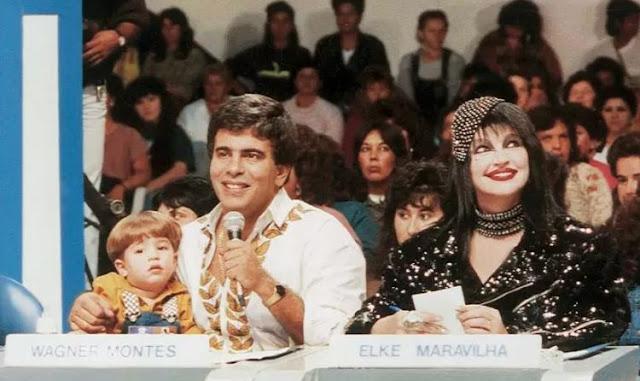 Elke Maravilha no programa de Silvio Santos nos anos 90