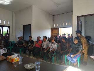 Sosialisasi Antara PT. TBJ Dengan Masyarakat Kampung Cukas Di Tengahi Polres Lingga