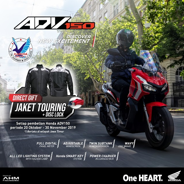 Gratis Jaket Touring & Disc Lock Setiap Pembelian ADV150