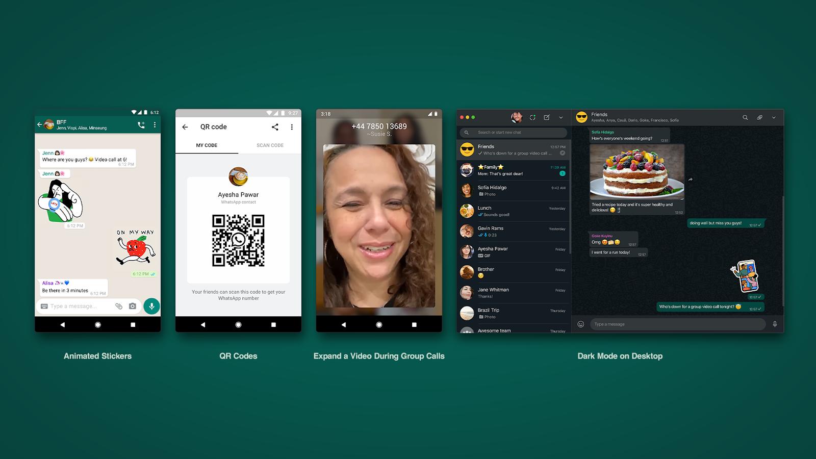 Sticker animati e altre novità disponibili in WhatsApp