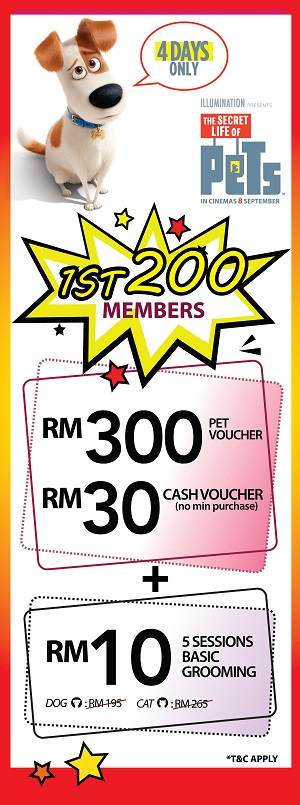 RM30 Cash Vouchers for their 1st 200 Members with no min purchase!