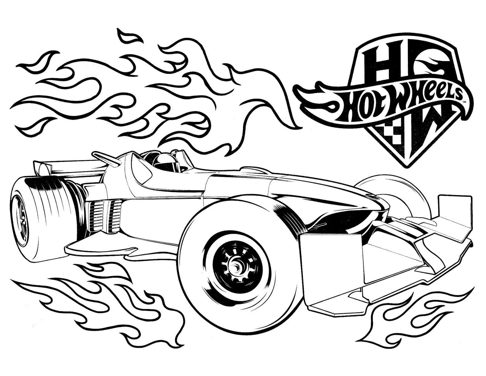 Hot Wheels Desenhos Para Colorir