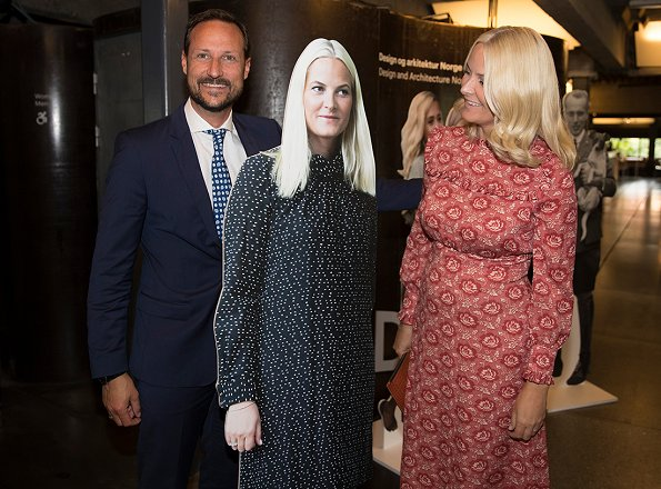Crown Prince Haakon and Crown Princess Mette-Marit attended a reception of 150th anniversary of NTB