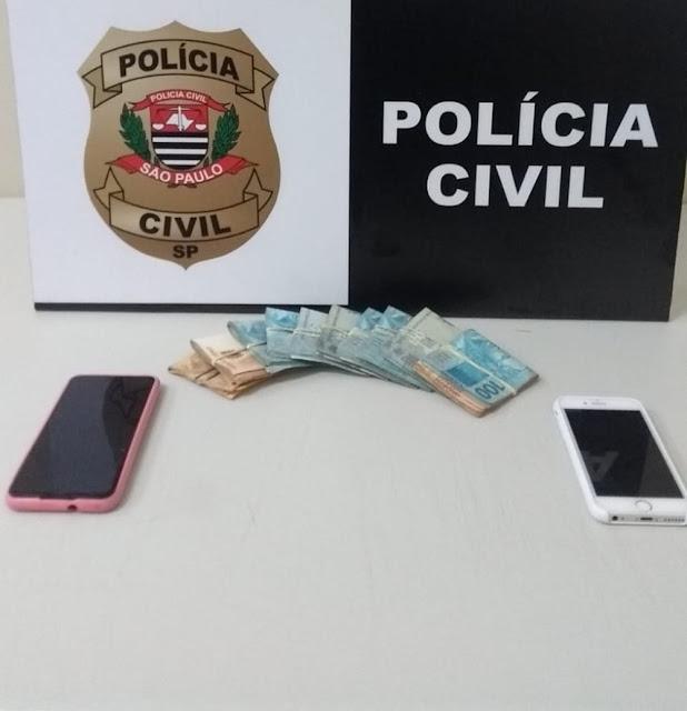 Celulares e mais de R$ 9 mil sem origem comprovada são apreendidos em operação da Polícia Civil