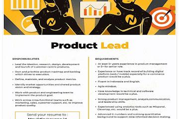 Lowongan Kerja Product Lead Avana Bandung