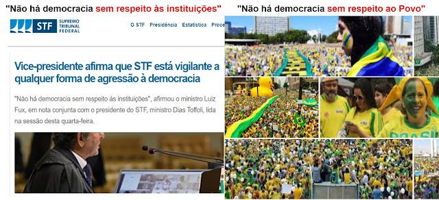 NOTA DO STF ESQUECE QUE O SUPREMO É O POVO