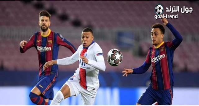"""تفاصيل موعد مباراة باريس سان جيرمان وبرشلونة """" قمة دور ال 16 """" في دوري أبطال أوروبا"""