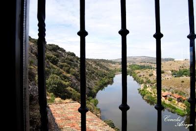 Imagen del rio Duero desde una de las estancias de la ermita.