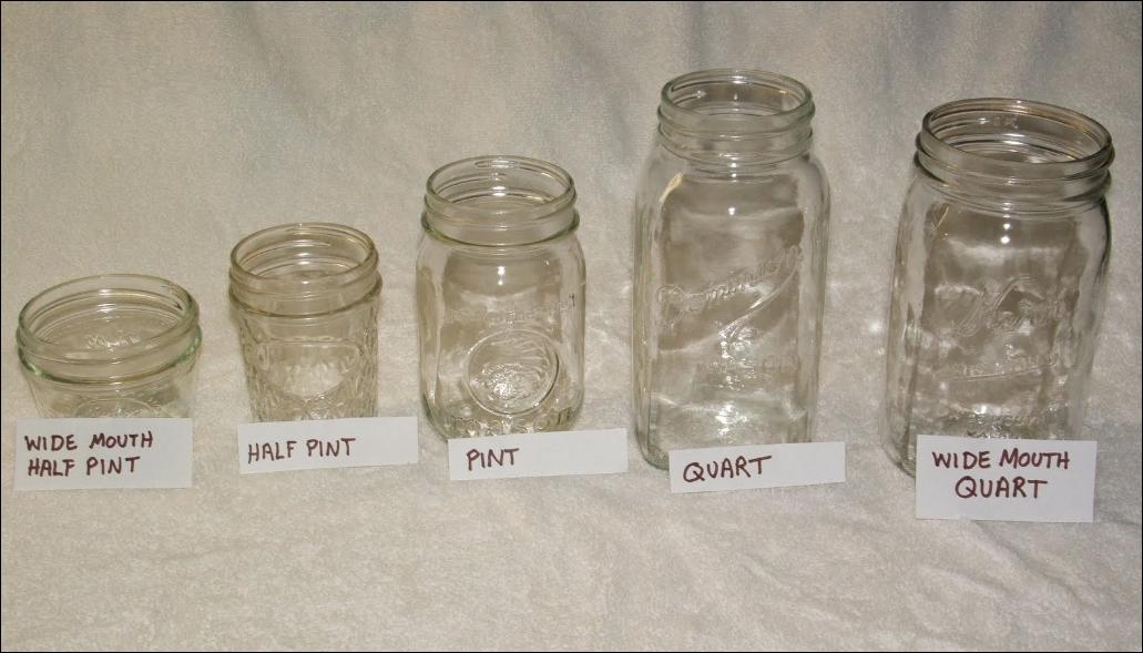 Quart Vs Pint Size Mason Jar