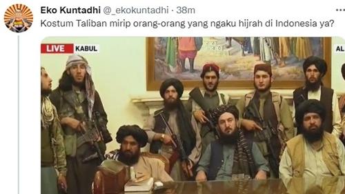 Eko Kuntadhi: Kostum Taliban Mirip Orang yang Ngaku Hijrah di Indonesia ya? Netizen: Wajah Sejuk Menurut Musni Umar