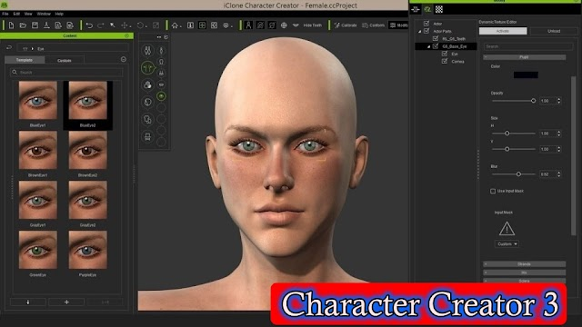 Game Industries' one of the best Character Creation Software is : Character Creator 3