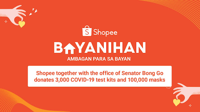 Shopee Donates 3,000 Test Kits and 100,000 Masks as Part of Shopee Bayanihan's Initiative to Support the Front Liners' Fight Against COVID-19