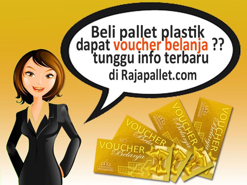 Beli Pallet Plastik Dapat Voucher Belanja & Free Ongkir Jabodetabek