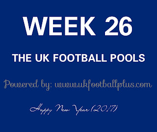 Week 26 UK football pools draws on coupon by www.ukfootballplus.com