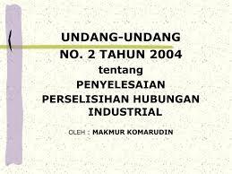 Undang-Undang perselisihan Hubungan Industrial