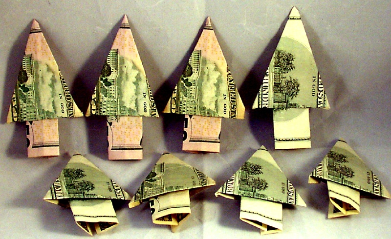 I Like Paper: Origami Money Trees - photo#26