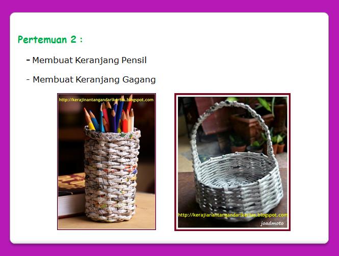 Koran Analisa Analisadaily Tangan Kreasi Kertas Koran Belajar Membuat Tempat Pensil And Keranjang
