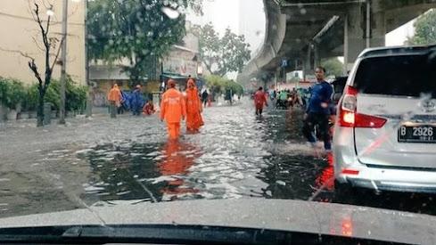 BBPD DKI Jakarta Laporkan Sejumlah Genangan di Jakarta Sudah Surut