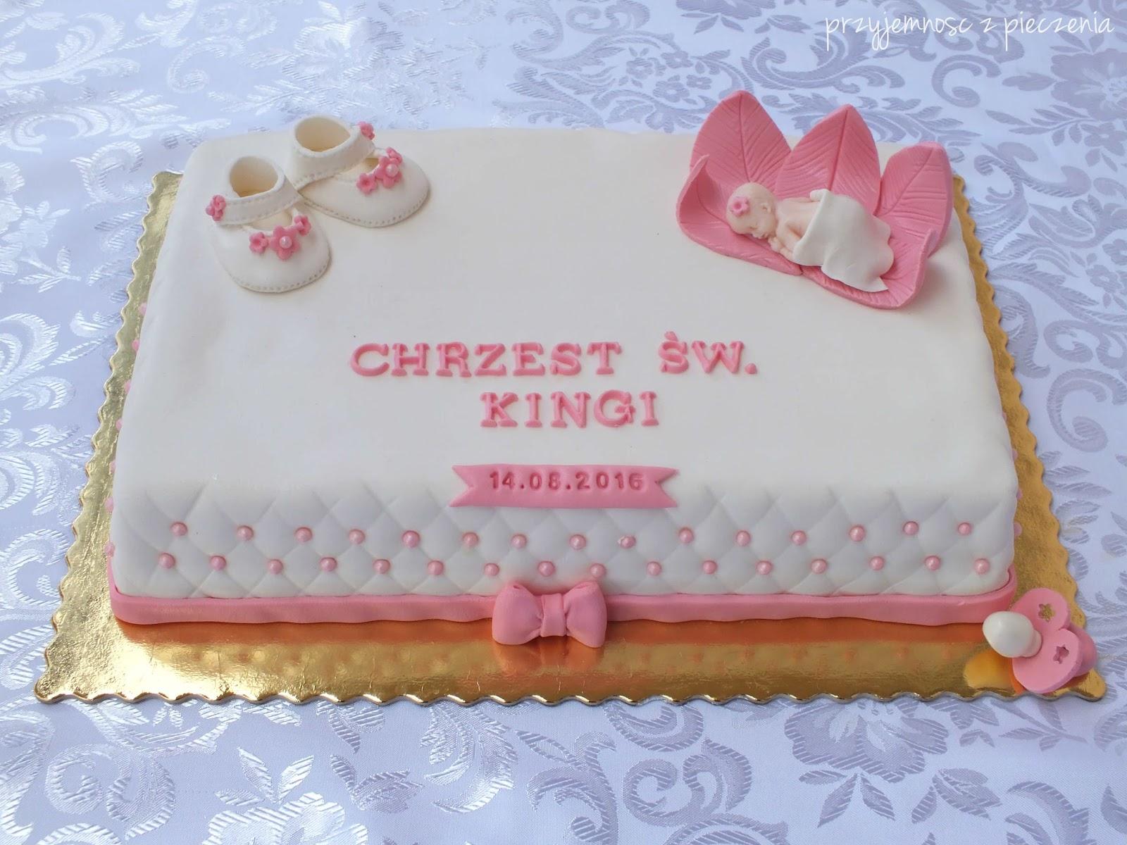 Przyjemność Z Pieczenia Tort Na Chrzciny Dla Dziewczynki
