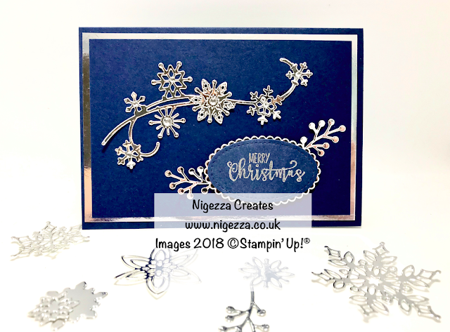 Snow is Glistening Christmas Card #4 Nigezza Creates