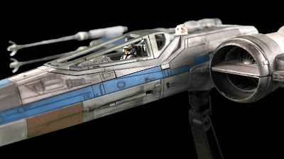 Painted Weathered Bandai 1/72 T-70 Resistance X-Wing Pilot Cockpit