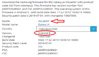 Firmware Android Pie Samsung J4 SM-J400F 2018
