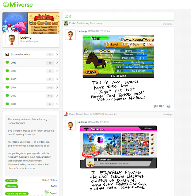 Miiverse post downloader result index.html Nintendo NNID PrinceOfKoopas Ludwig final profile