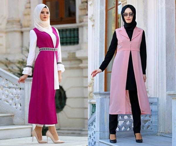 2018 Uzun Yelek Modelleri
