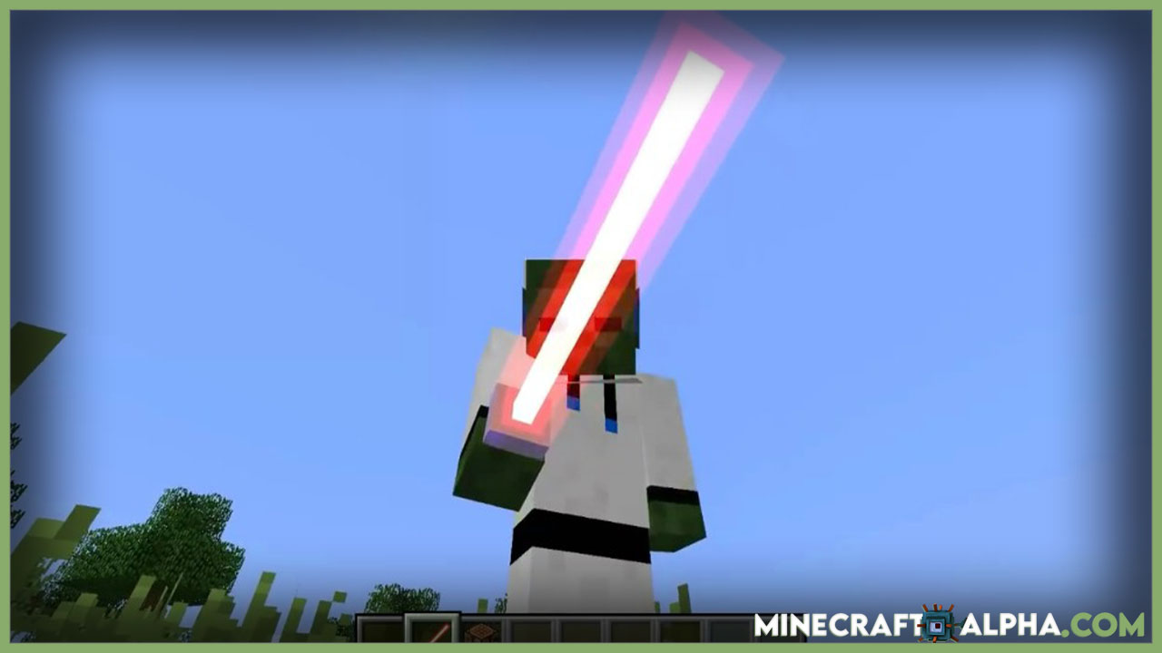 Minecraft ToLaserBlade Mod For 1.17.1 (Simple Sword with a Laser Blade)