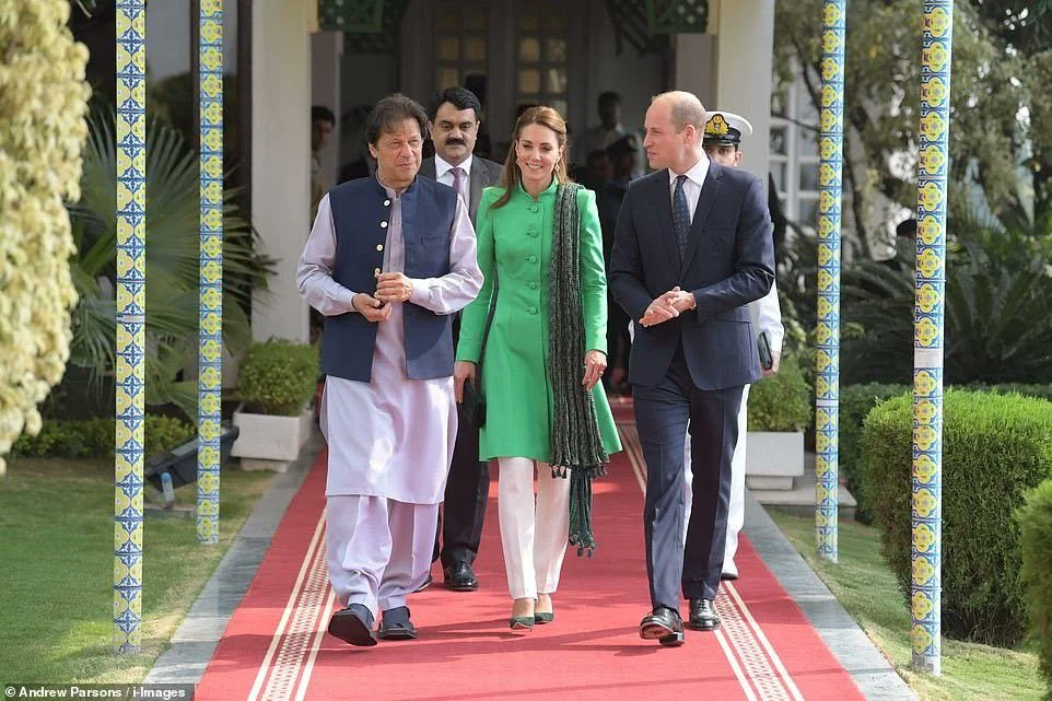 The Duke and Duchess of Cambridge meet PM Imran Khan