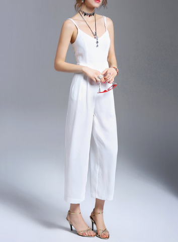 White Jumpsuit StyleWe - A Glimpse of Glam Andrea Tiffany
