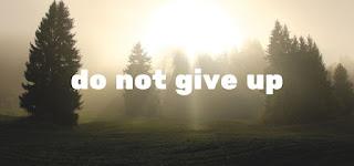 Jangan mudah menyerah,karena tidak ada usaha yang menghianati hasil