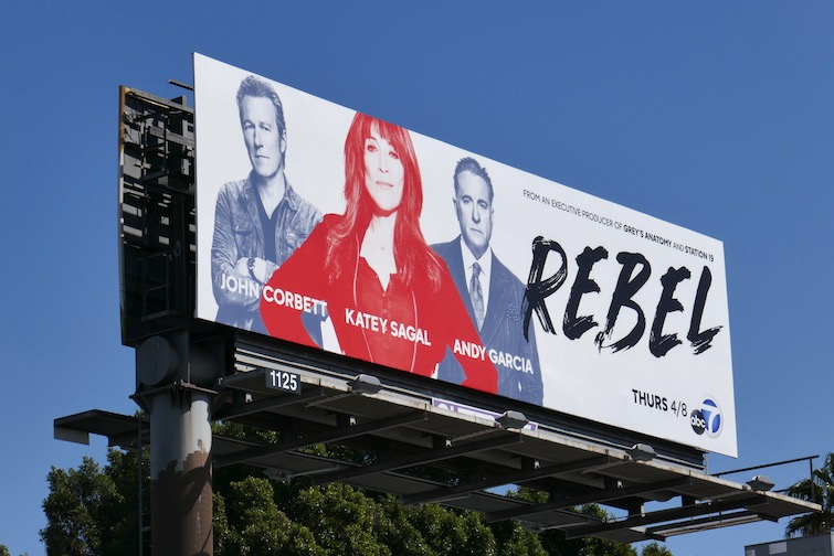 Rebel series launch billboard