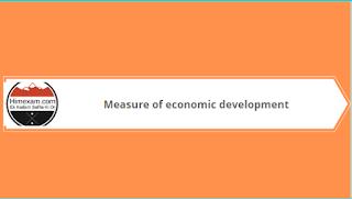 Measure of economic development