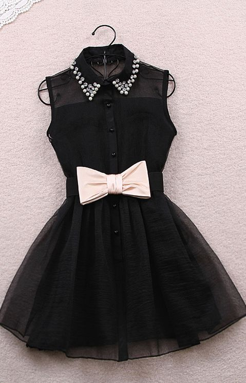 Chiffon-dress-black