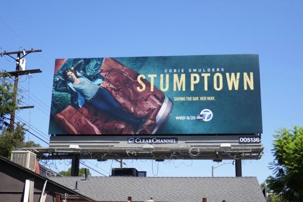 Stumptown series launch billboard
