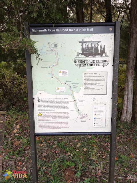 Mammoth Cave Railroad Hike & Bike Trail Information Board