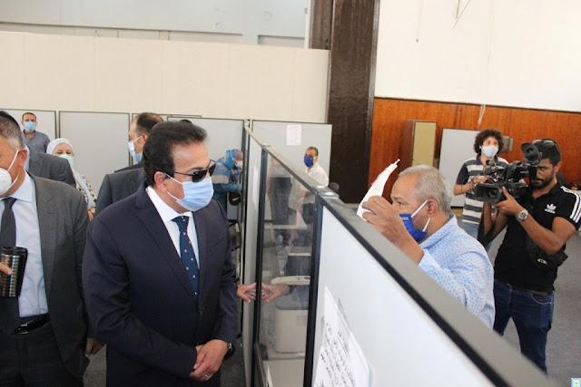 جولة تفقديه لمقر مكتب التنسيق الرئيسى الجديد بجامعة عين شمس اليوم