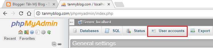 Hướng dẫn tạo tài khoản MySQL mới bằng phpMyAdmin trên XAMPP