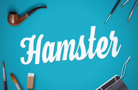 hamster, free script handwriting style font