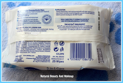 *NEW* NIVEA 3-in-1 Care Cleansing Micellar Wipes- for Eyes, Lips and Face|| Review on the blog Natural Beauty And Makeup