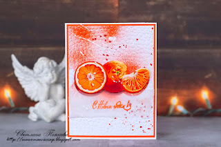 scrapbooking, scrap, card, orange