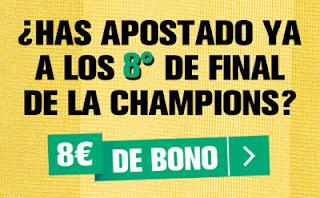 interwetten Champions promo 8 euros sin deposito hasta 14 marzo